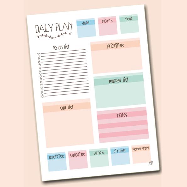 Decopared planificadores imprimibles diarios y semanales for Planificador habitaciones