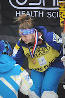 American freestyle skier Hannah Kearney picked up her 11th straight World Cup victory Thursday in the moguls competition at Whiteface Mountain.  Photo credit: Adirondack Daily Enterprise.