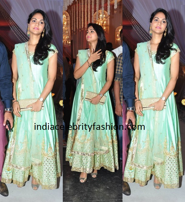 Sneha Reddy in Pastel Anarkali