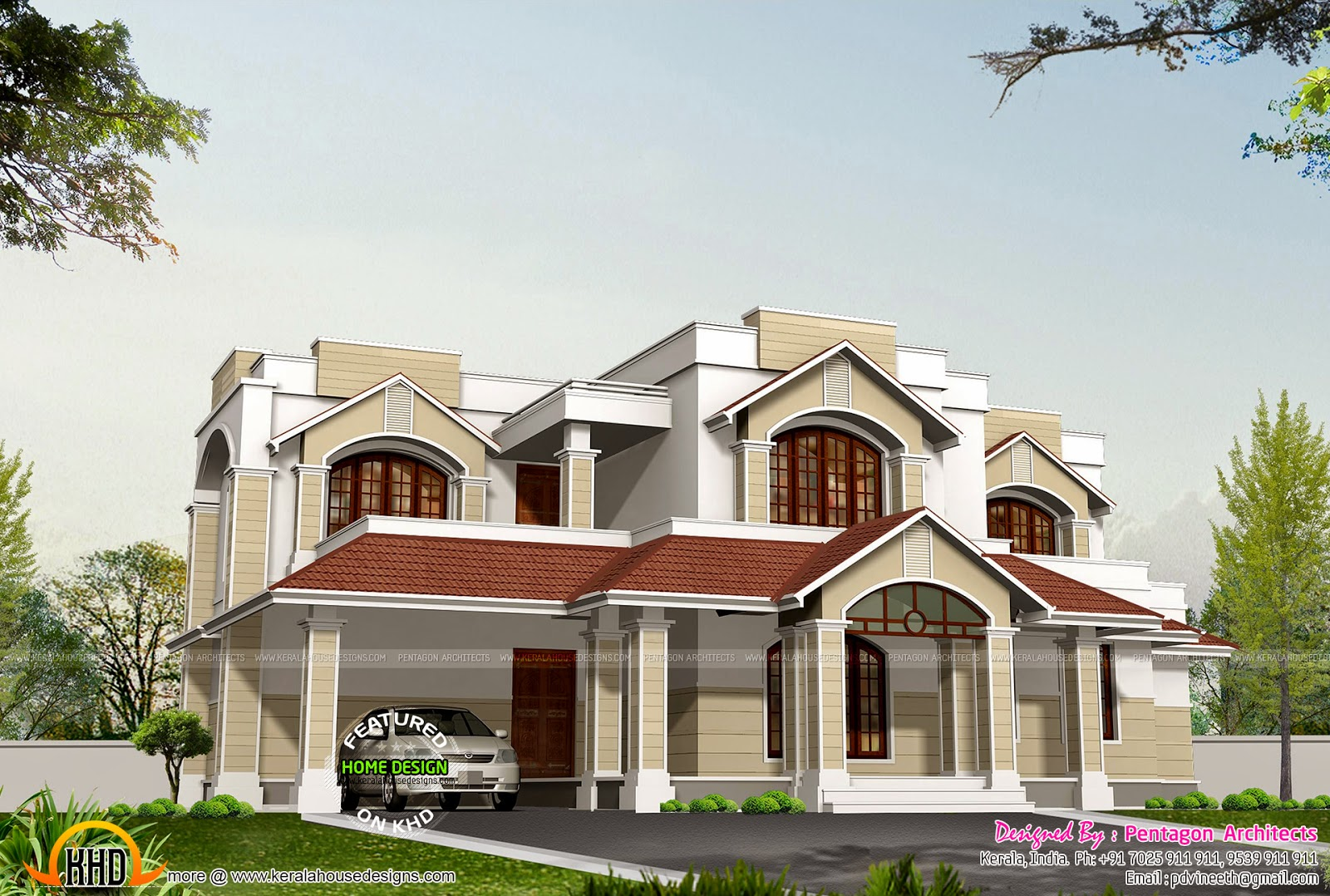 9 beautiful kerala houses by pentagon architects kerala home design and floor plans for House designs pictures and plans