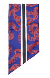 Topshop Snake Print Skinny Scarf
