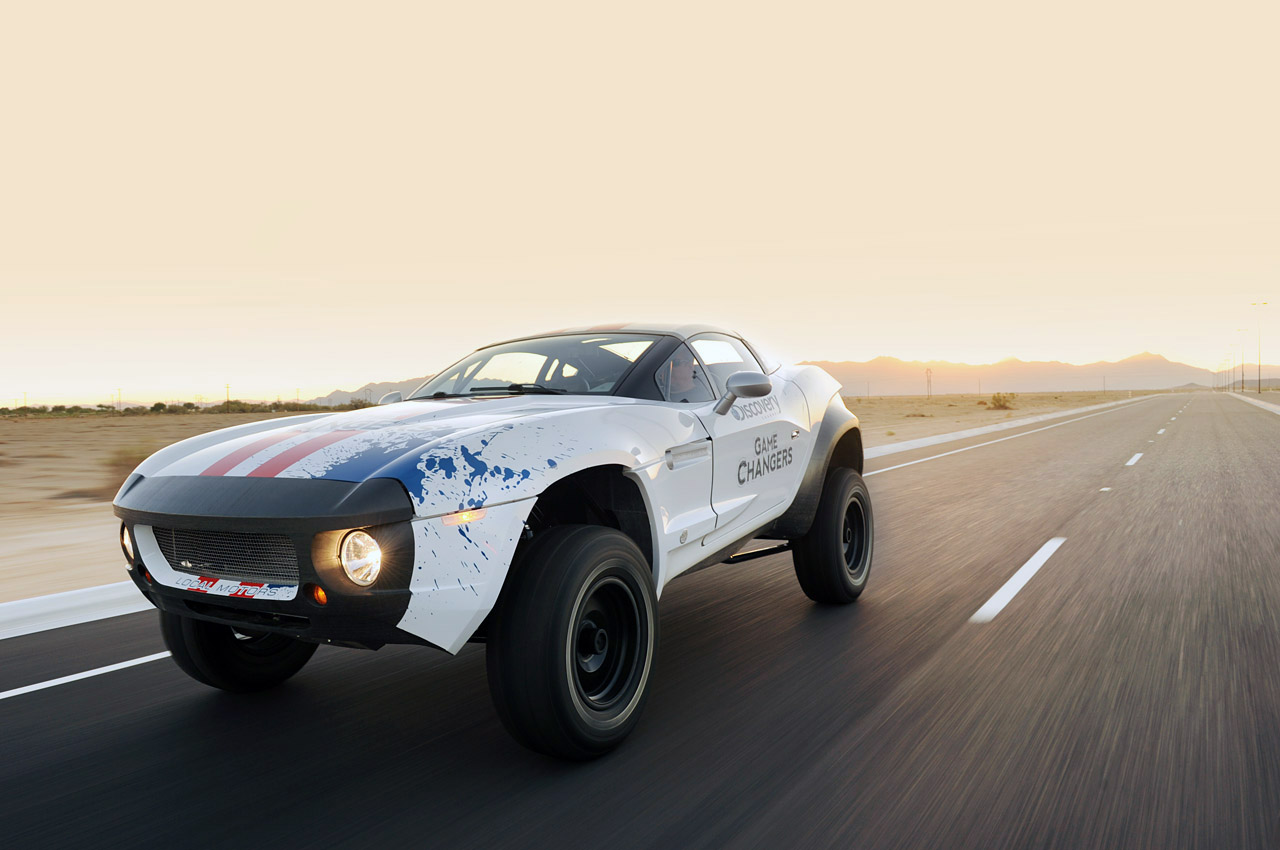nancys car designs local motors rally fighter crowds into jay leno 39 s. Black Bedroom Furniture Sets. Home Design Ideas