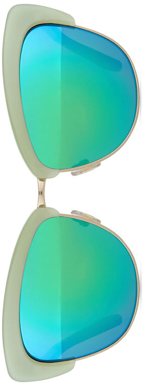 kate spade new york dual-rimmed cat-eye sunglasses