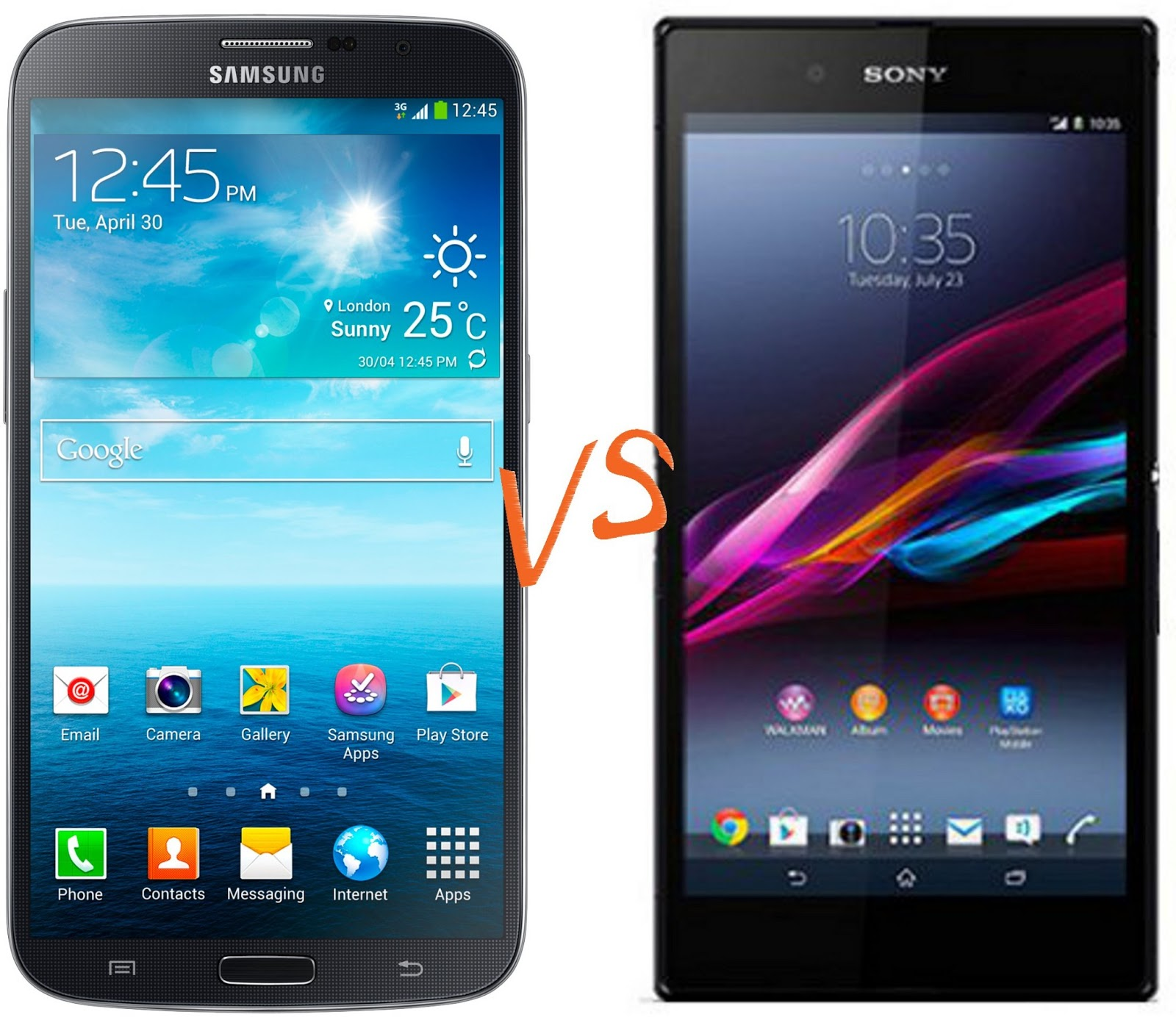 MobileWatch: Sony Xperia Z Ultra Vs Samsung Galaxy Mega : Comparison of Phablets that Matter