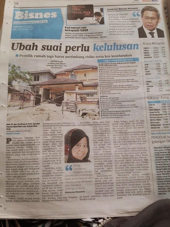 Suratkhabar pun cari anda untuk berkongsi dengan mereka-berita harian metro