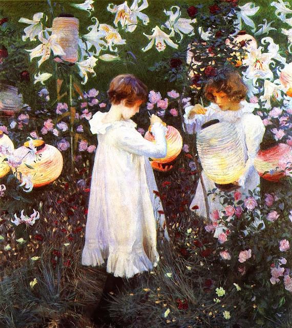John Singer Sargent,impressionism,garden