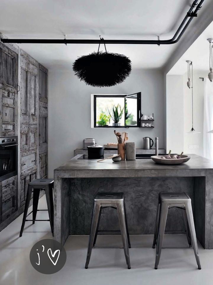 Dise o de cocinas con cemento pulido for Cemento pulido blanco