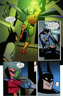 Batman meeting Golden Age Green Lantern