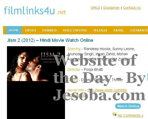 Web site of the Day | Entertainment  - Film Links 4 U Sunday, 5th Aug, 2012