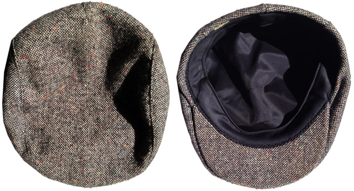flecked tweed hat
