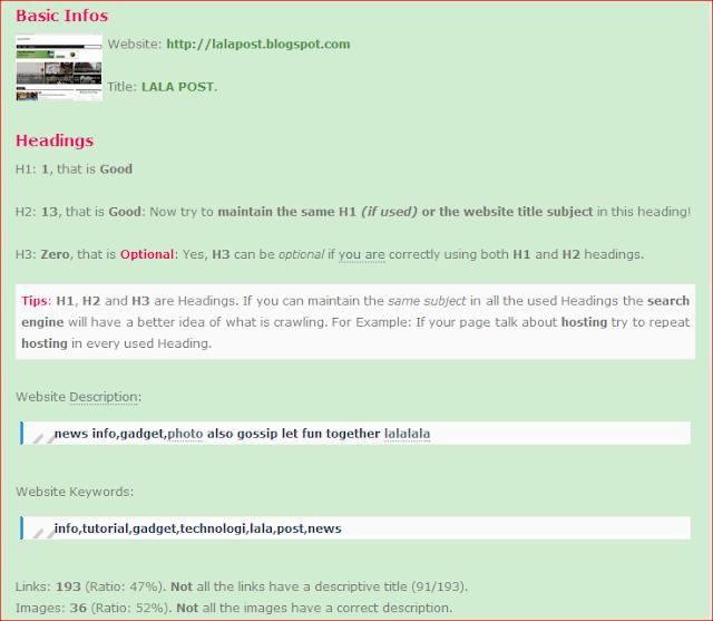 Cara Untuk Semak SEO Website anda