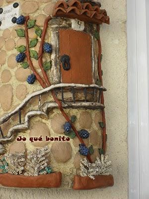 Teja rústica decorada