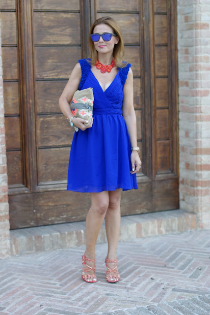 Royal blue chiffon dress, Little Mistress prom dress, Tiffany bracelets, Fashion and Cookies