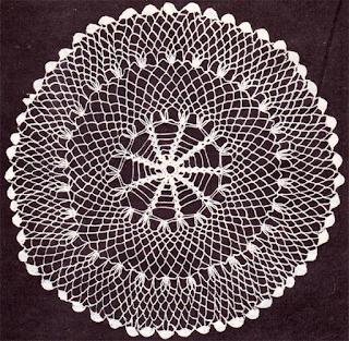 Техника вязания ажурной салфетки крючком.
