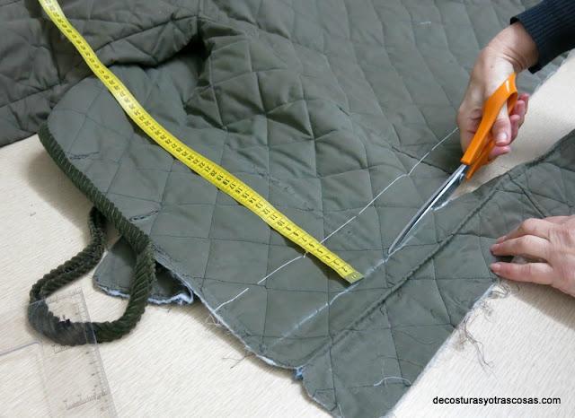 cortar de largo de una chaqueta tutorial