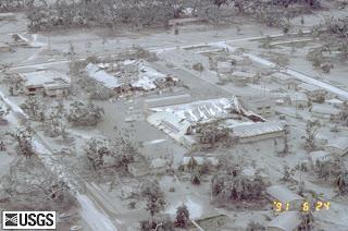 Lahar covering Clark Air Base