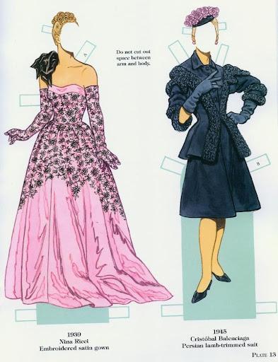 French fashion designers 1900 1950 gabi s paper dolls