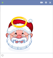 Saint Santa Emoticon