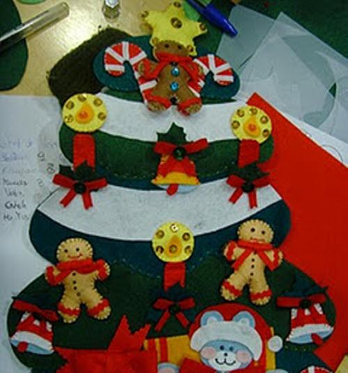 Adorno para el rbol de navidad en fieltro mejor conjunto - Adornos arbol navidad fieltro ...