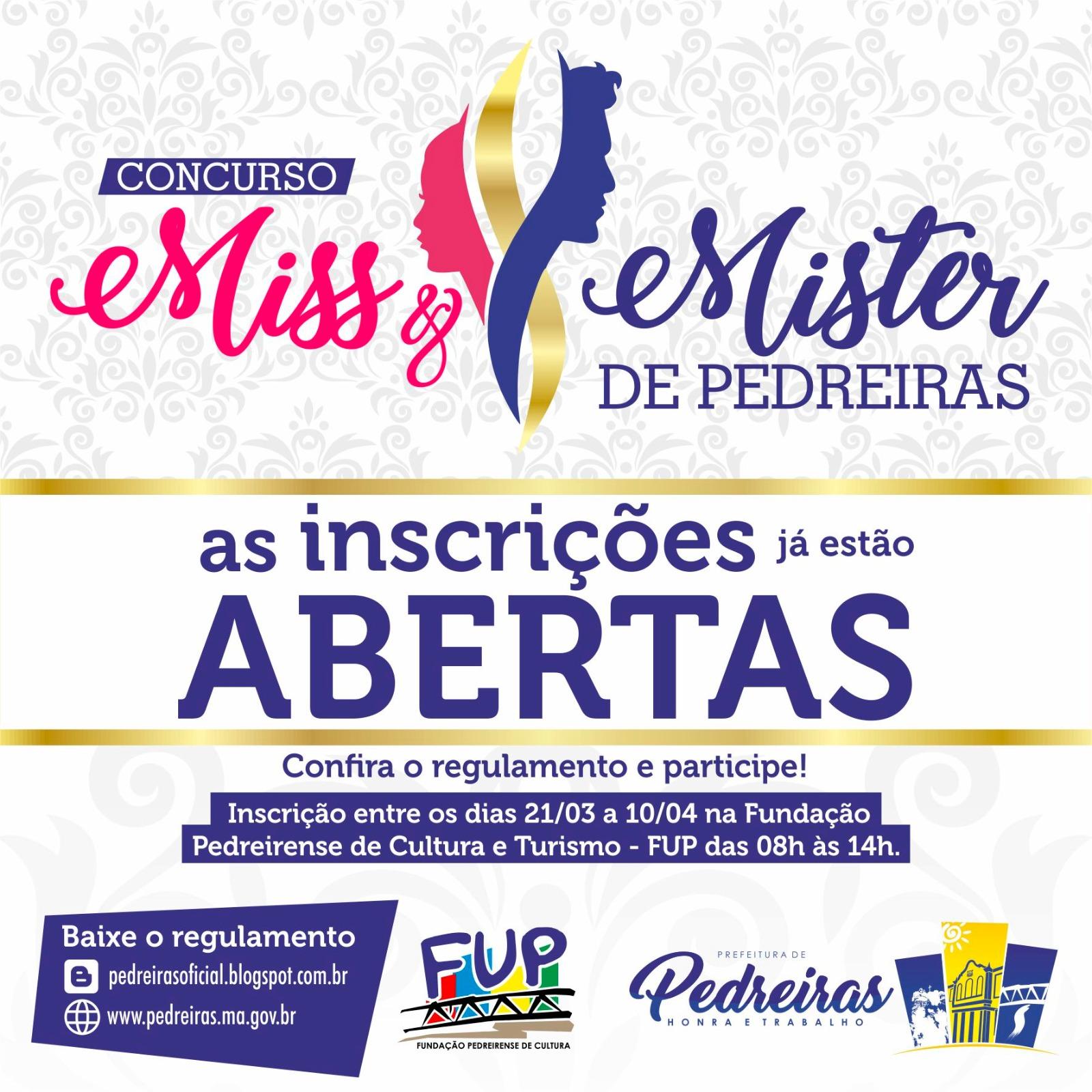 MISS E MISTER PEDREIRAS 2017