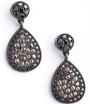 Anil Arjanadas Oxidized Teardrop Earrings
