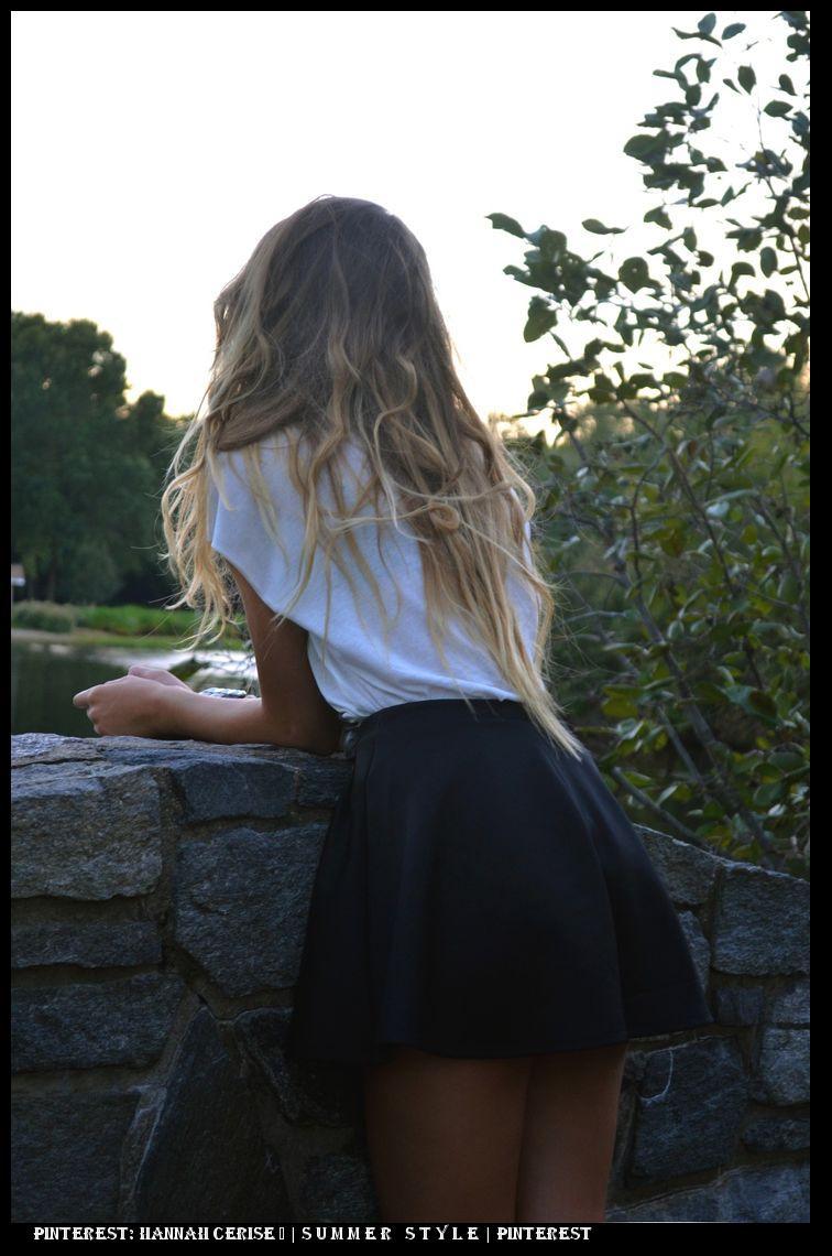 Фото девушки русые со спины 16 фотография