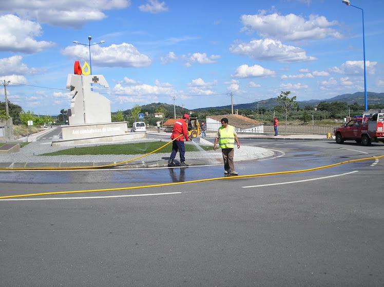Os bombeiros de Penamacor deram a sua preciosa ajuda