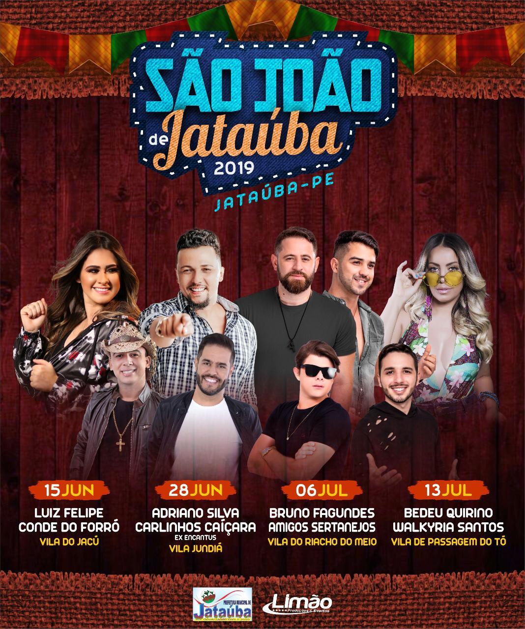 PROGRAMAÇÃO SÃO JOÃO 2019