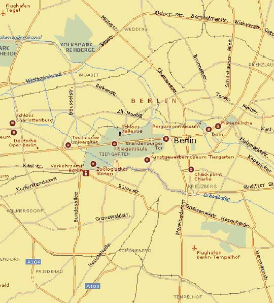 map of berlin city germany