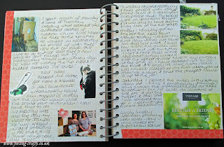 That was the week that was This and That Journal / Smash Book Page by UK based Stampin' Up! Demonstrator Bekka Prideaux - she has lots of ideas with her journal