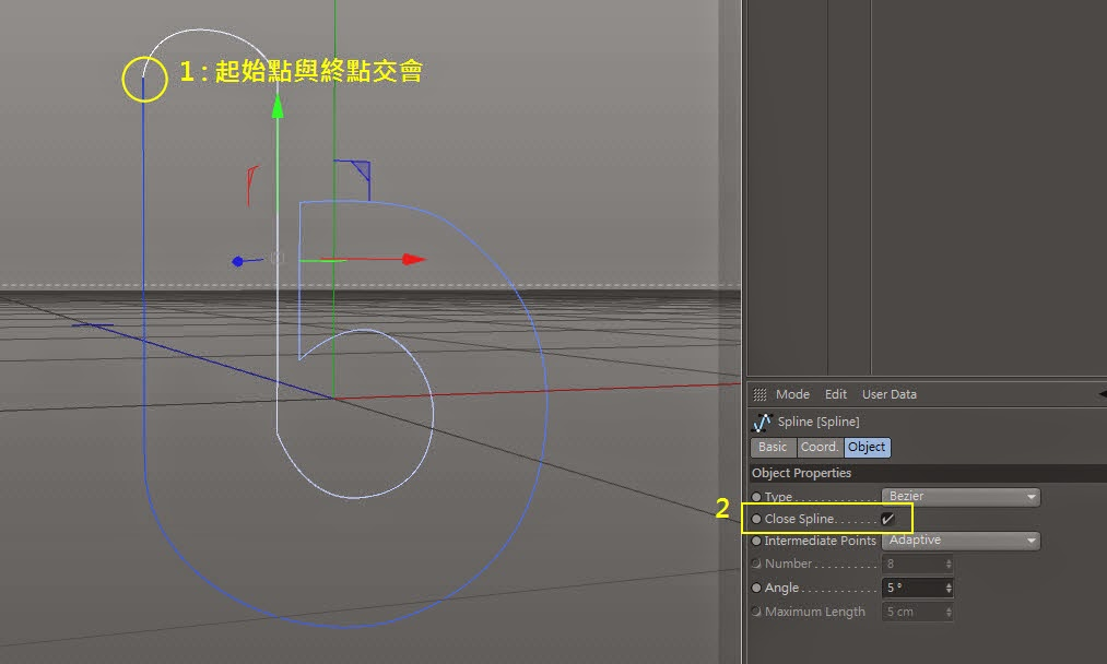 Manipulating Curve in C4D 04
