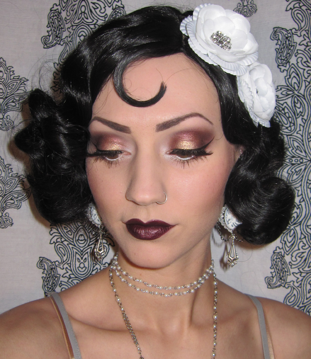 Glitter Is My Crack 192039s Flapper Makeup Costume Look