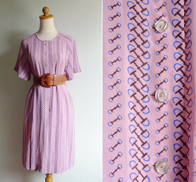 vintage 70's pink classic dress