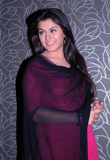 Hansika Motwani in Pink Kurta Tight Black Leggings transparent Chunni Cute Pictures