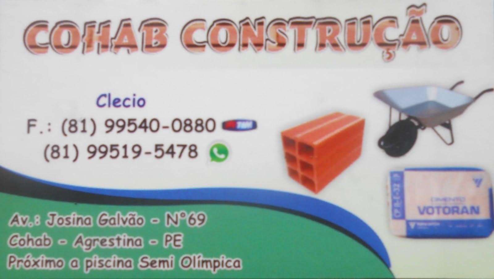 COHAB CONSTRUÇÃO EM AGRESTINA