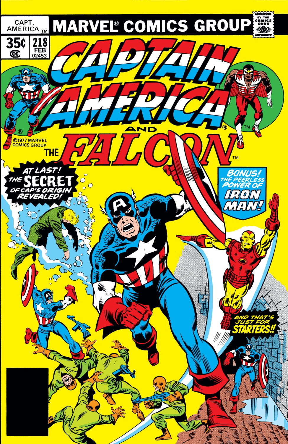 Captain America (1968) Issue #218 #132 - English 1