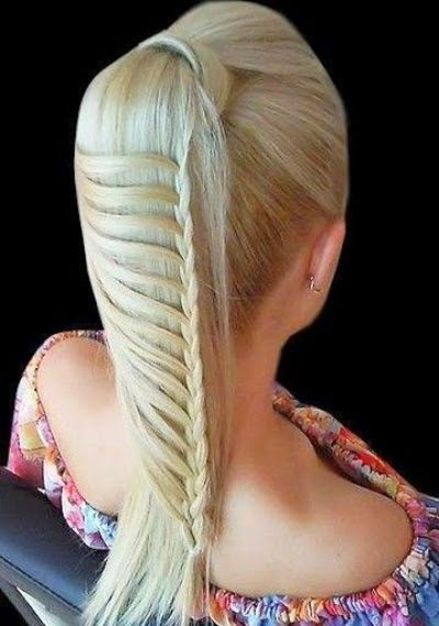 Ladder braids hairstyle