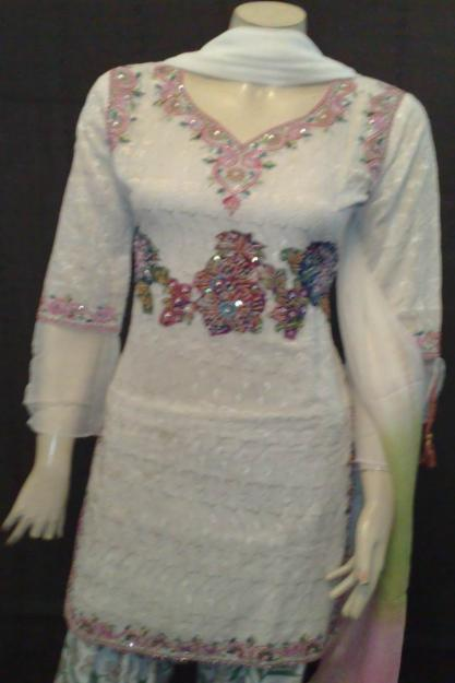 Latest great collection of heavy embroided dress colours