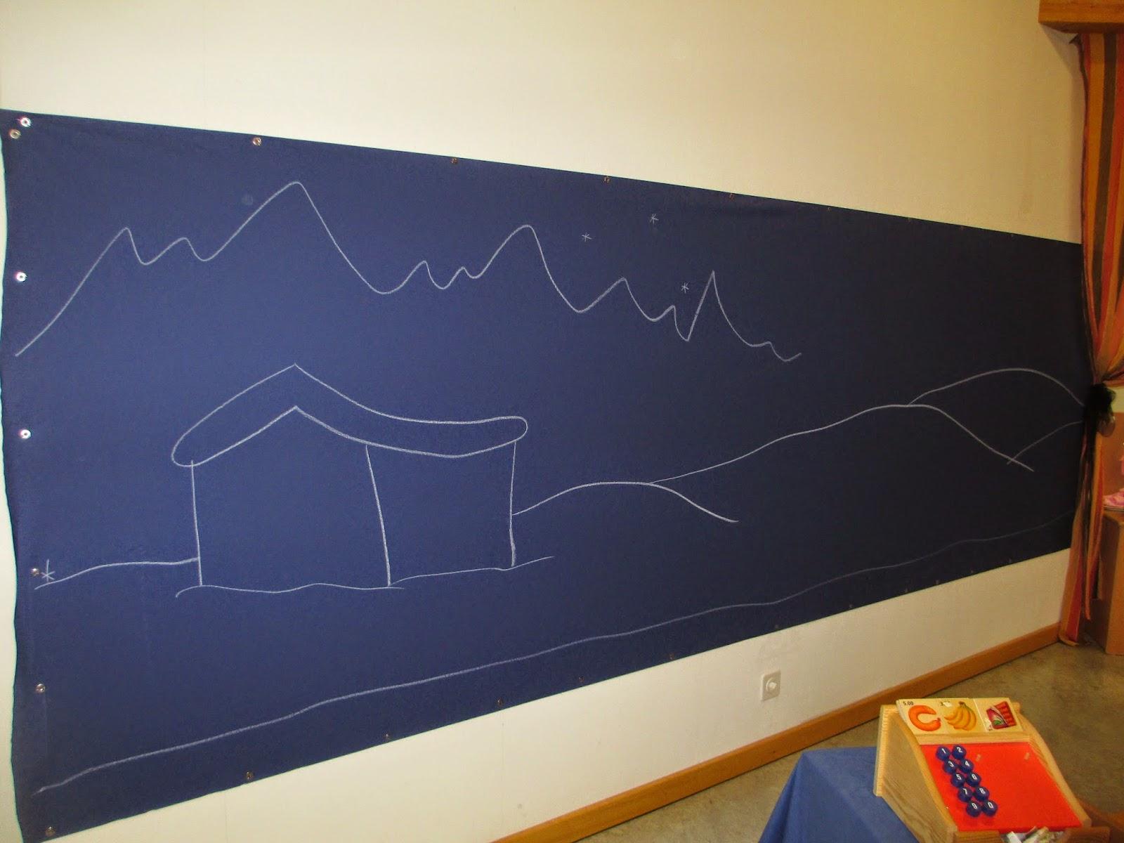 gemeinsames Zeichnen im Kindergarten Winter