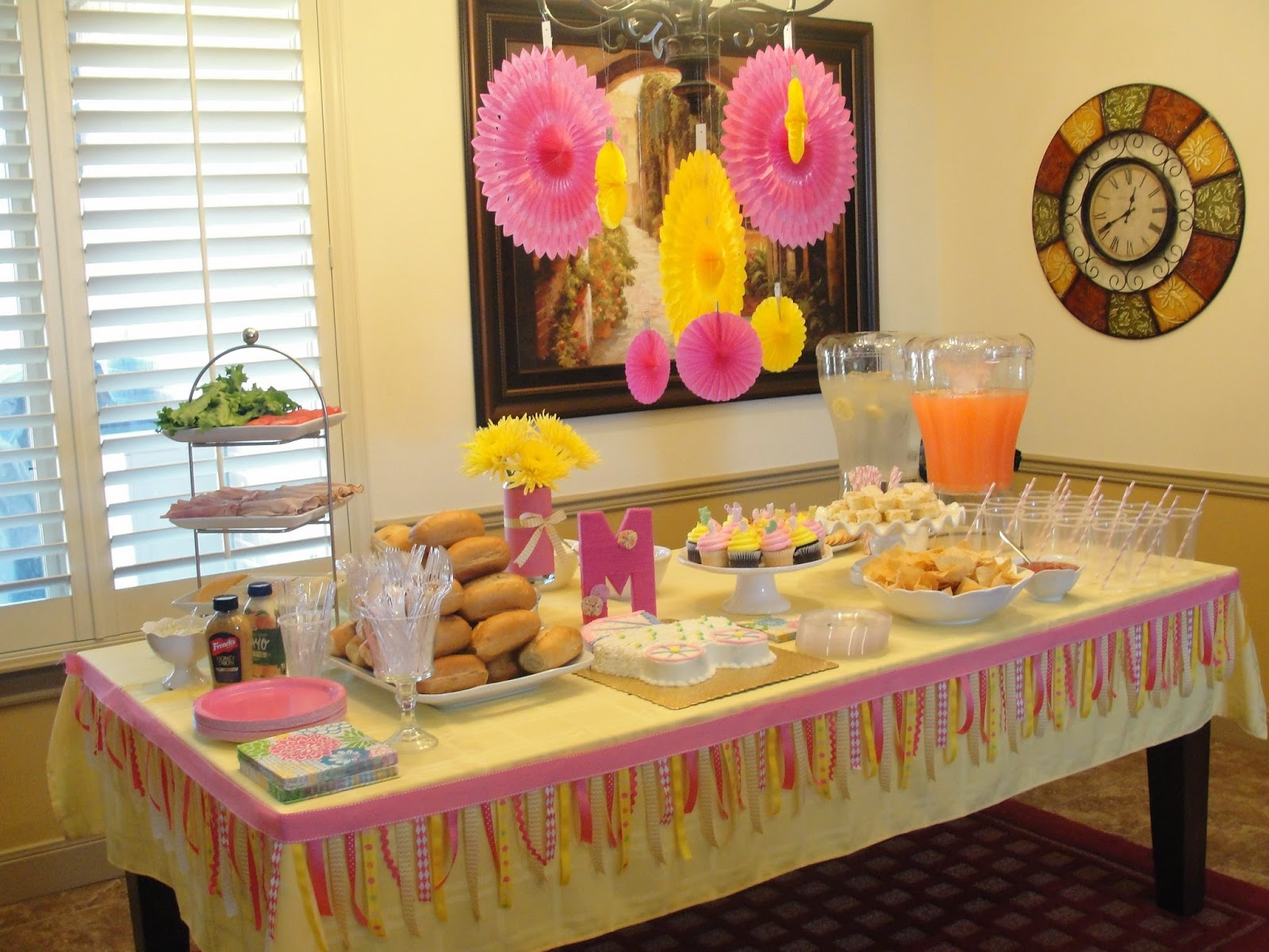 Nicole Davis Events A Pink And Yellow Girl Baby Shower