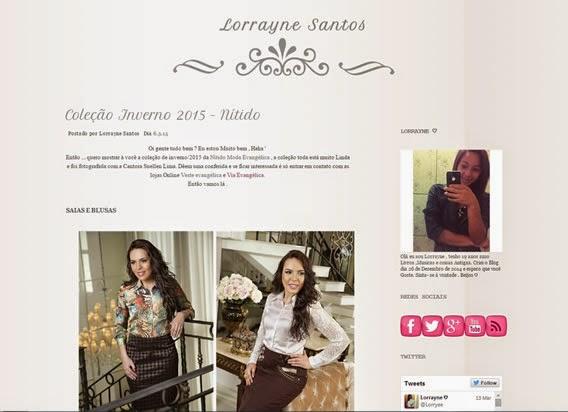 Nítido no blog de Lorrayne Santos
