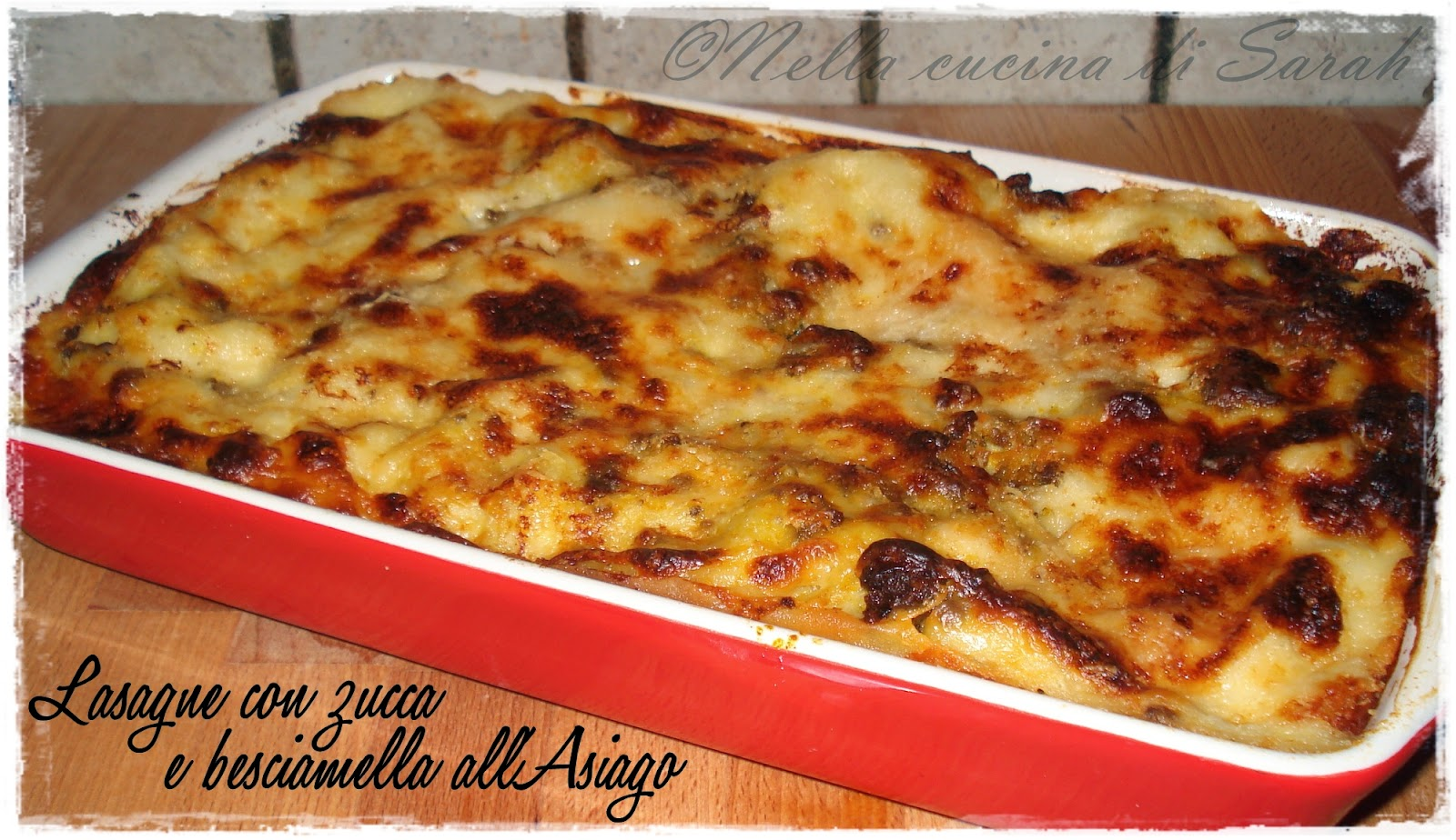 mtc ~ lasagne con zucca e besciamella all'asiago