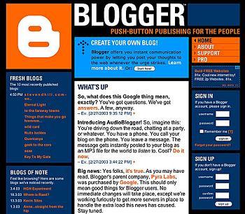 Sejarah Blogger (Blogspot) Di Dunia