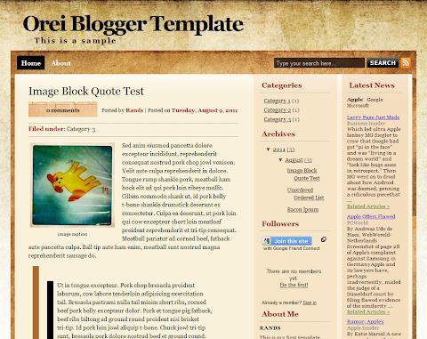 Orei Blogger Theme