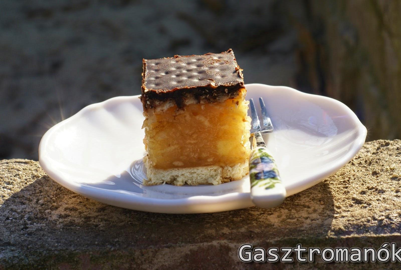 almás csokis keksz szelet