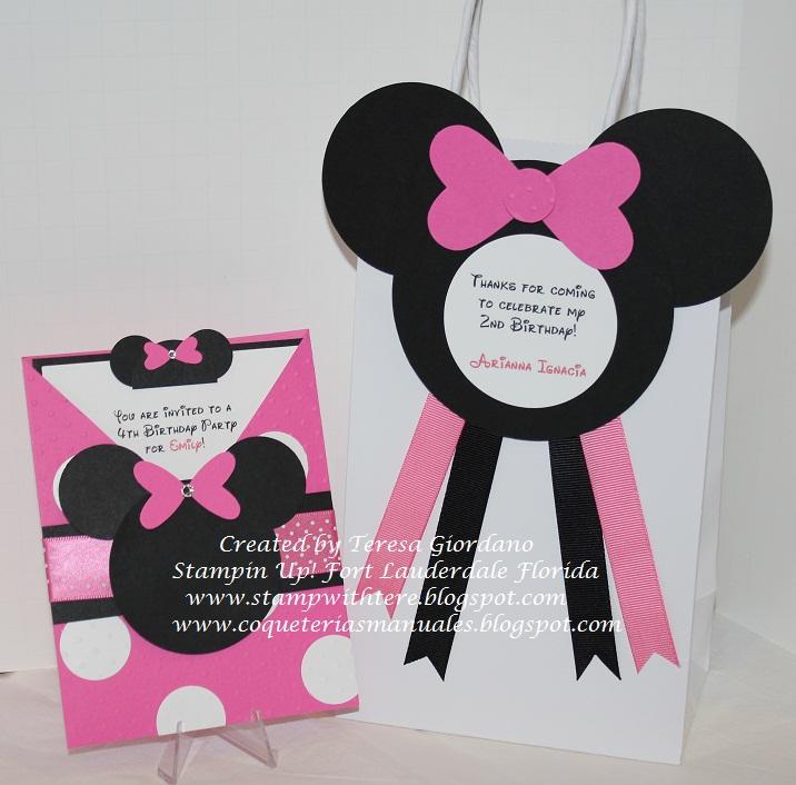 decorada con el tema de Minnie Mouse, será el Goodie Bag o Cotillón ...