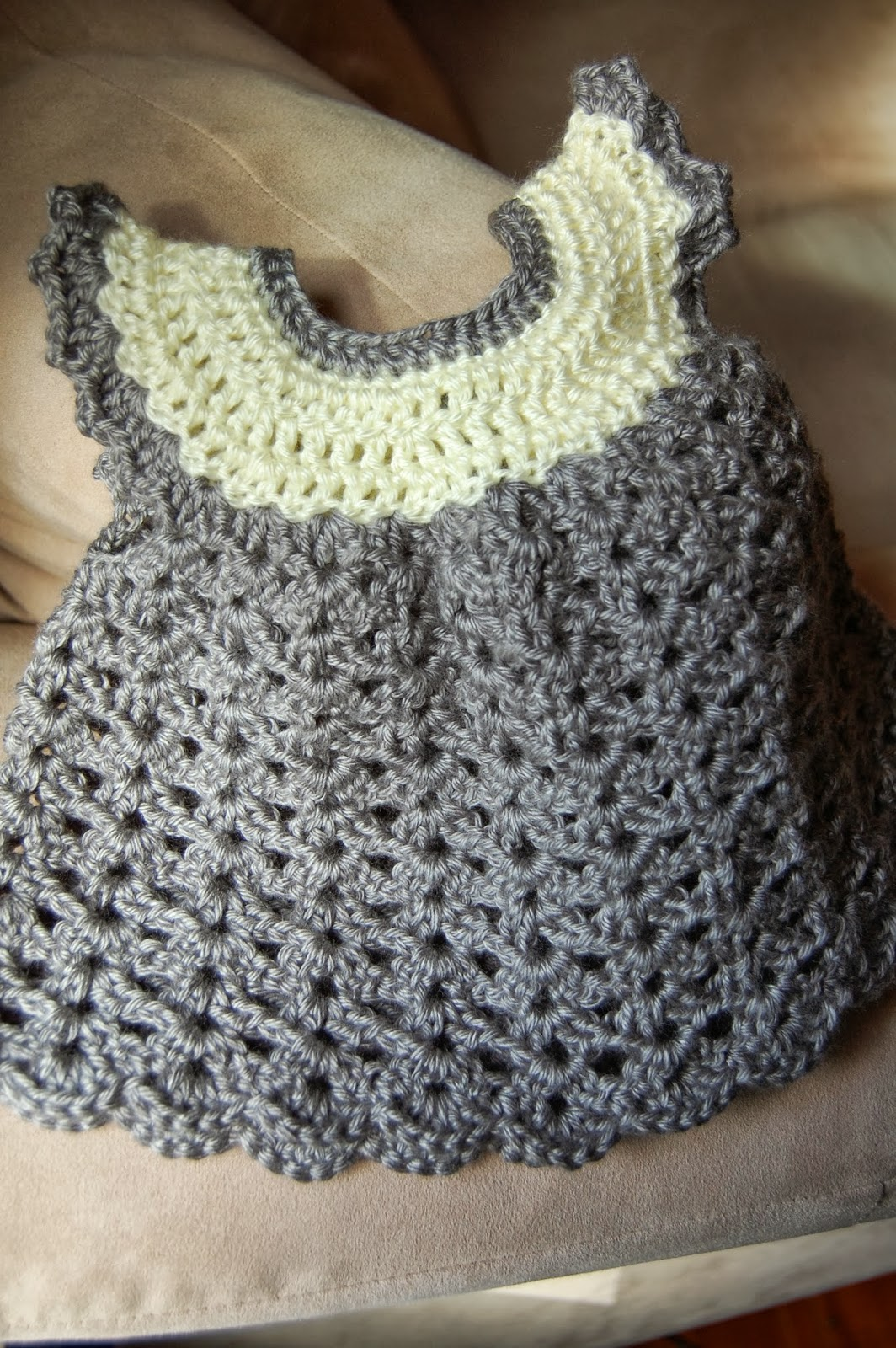 Free Crochet Angel Wing Dress Pattern : In My World: Crochet Angel Wing Pinafore
