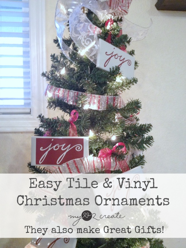 easy tile and vinyl christmas ornaments christmas gifts mylove2create - Easy Christmas Gifts To Make