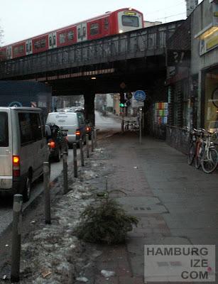 Stresemannstraße - Radwegwinterdeko