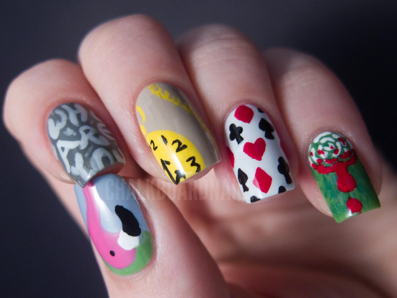 Alice in Wonderland Nail Art | Chalkboard Nails | Nail Art Blog